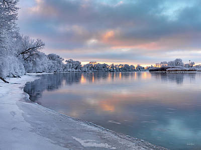 Photograph - Winter Azure And Gold by Leland D Howard