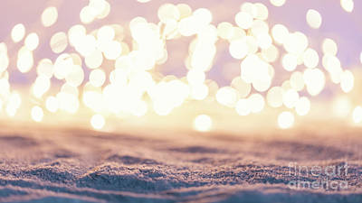 Photograph - Winter Background With Snow And Fairy Lights. by Michal Bednarek