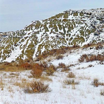 Photograph - Winter Badlands by Cris Fulton
