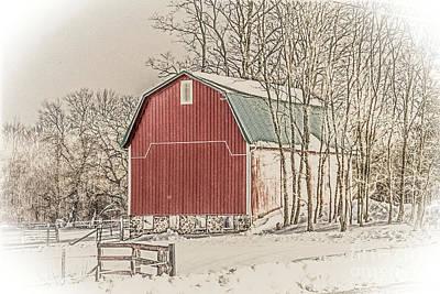Photograph - Winter Barn by William Norton