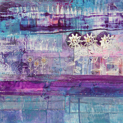 Mixed Media - Winter Blues 2 by Paper Jewels By Julia Malakoff