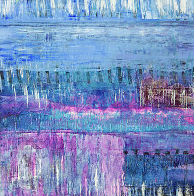 Mixed Media - Winter Blues 3 by Paper Jewels By Julia Malakoff