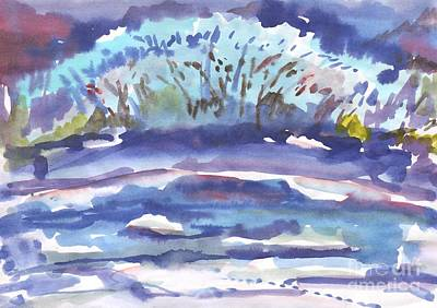 Painting - Winter Bush By The River by Dobrotsvet Art