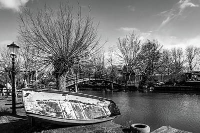 Photograph - Winter Canal Scene by Framing Places
