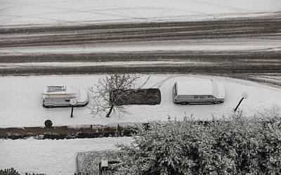 Photograph - Winter Carprint by Juan Contreras