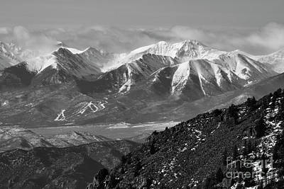 Photograph - Winter Clouds On The Sangre De Cristo by Steve Krull