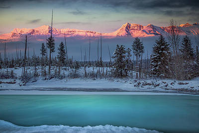 Photograph - Winter Color Palette / Polebridge, Montana  by Nicholas Parker