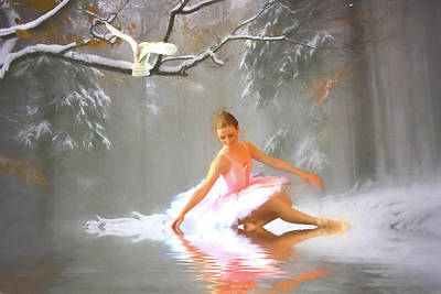 Dancer Mixed Media - Winter Dancer by Sharon Lisa Clarke