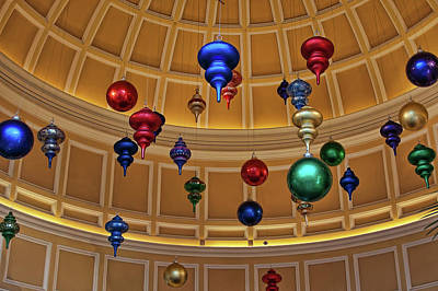 Photograph - Winter Decorations At Bellagio, Las Vegas by Tatiana Travelways