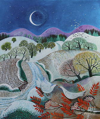 Painting - Winter Doves by Lisa Graa Jensen
