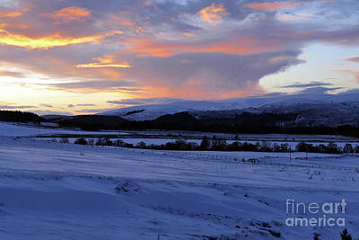 Photograph - Winter Dusk - Advie by Phil Banks