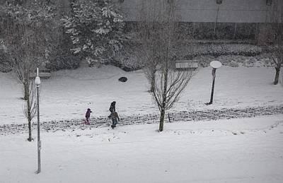 Photograph - Winter Footprint No. 6 by Juan Contreras