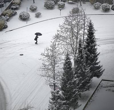 Photograph - Winter Footprints No. 5 by Juan Contreras