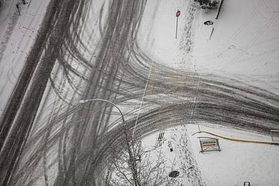 Photograph - Winter Footprints No. 6 by Juan Contreras