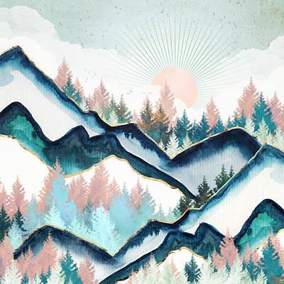 Digital Art - Winter Forest by Spacefrog Designs