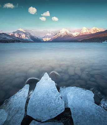 Photograph - Winter Formations / Lake Mcdonald, Glacier National Park  by Nicholas Parker