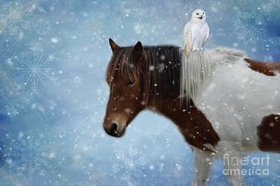 Mixed Media - Winter Fun by Eva Lechner