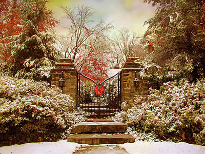 Photograph - Winter Gates by Jessica Jenney