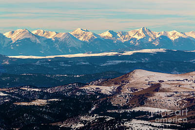 Steven Krull Royalty-Free and Rights-Managed Images - Winter Glow on the Sangre de Cristo by Steven Krull