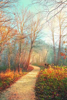 Photograph - Winter Gold Watercolors by Debra and Dave Vanderlaan