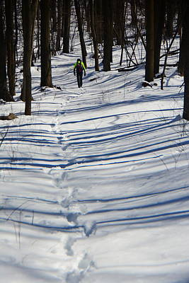 Photograph - Winter Hiker by Raymond Salani III