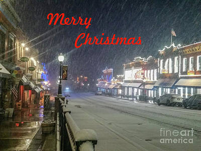 Photograph - Winter In Cripple Creek - Co Merry Christmas by Tony Baca