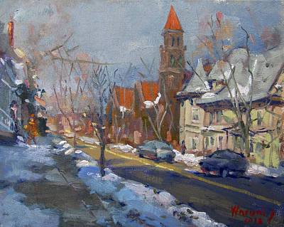 Winter In Elmwood Ave Buffalo Ny Original