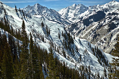 Photograph - Winter In The Maroon Bells Wilderness by Adam Jewell
