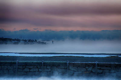 Photograph - Winter Island Lighthouse Above The Fog by Jeff Folger
