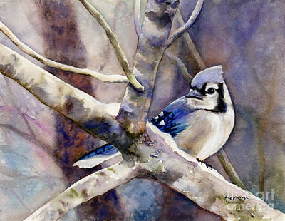 Animal Portraits - Winter Jay by Hailey E Herrera
