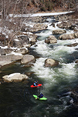 Photograph - Winter Kayaking by Karol Livote