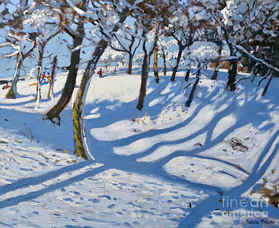 Painting - Winter Ladmanlow, Buxton, Derbyshire by Andrew Macara