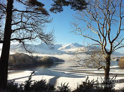 Photograph - Winter Lake Scene  by Pauline Christie