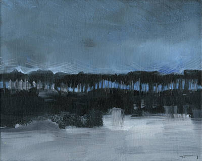 Painting - Winter Landscape 3 by Tim Nyberg