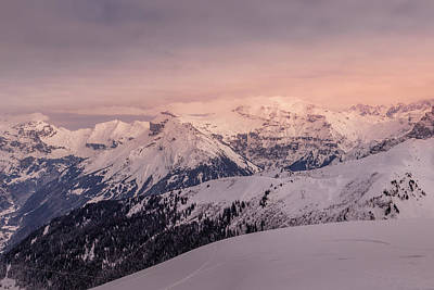 Wild And Wacky Portraits Rights Managed Images - Winter late afternoon in the French Alps Royalty-Free Image by Pavel Rezac