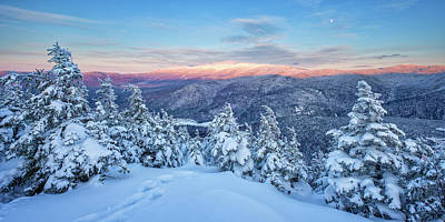 Photograph - Winter Light, Mountain Views by Jeff Sinon