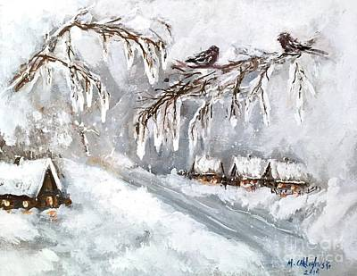 Painting - Winter by Miroslaw  Chelchowski