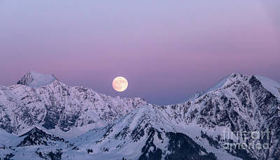 Royalty-Free and Rights-Managed Images - Winter Moonrise by DiFigiano Photography