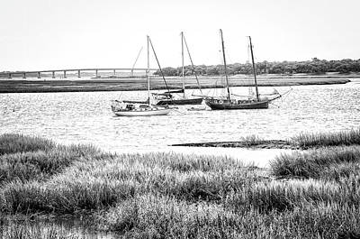 Photograph - Winter Mooring - Beaufort River by Scott Hansen