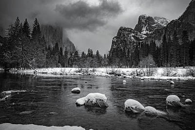 Mountain Royalty-Free and Rights-Managed Images - Winter Morning in Yosemite by Cat Connor