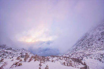 Photograph - Winter Morning Light Tuckerman Ravine by Jeff Sinon
