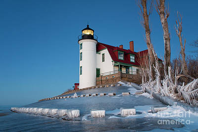 Royalty-Free and Rights-Managed Images - Winter Night at Point Betsie by Twenty Two North Photography