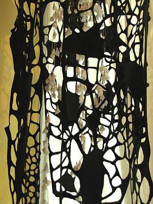 Tapestry - Textile - Winter Odonata by Susan Avishai
