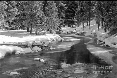 Photograph - Winter On The Firehole River - Yellowstone National Park by Sandra Bronstein