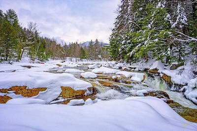 Photograph -  Winter On The Swift River. by Jeff Sinon
