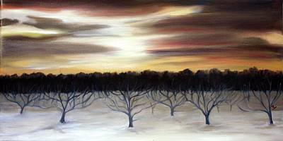 Painting - Winter Orchard by Sarah Lynch