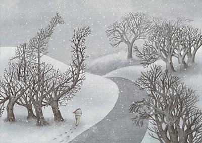 Nature Drawing - Winter Park by Eric Fan
