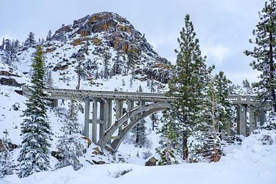 Photograph - Winter Rainbow Bridge by Robin Mayoff