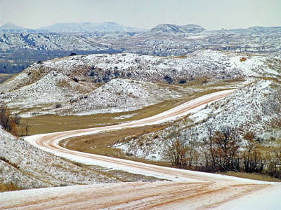 Photograph - Winter Road Near The Little Mo by Cris Fulton