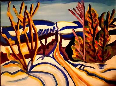 Painting - Winter Road by Nikki Dalton